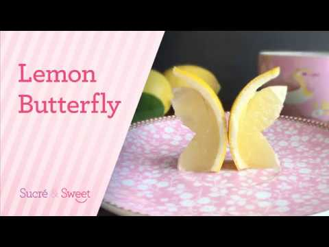 Lemon Garnish /How To Make a Very Easy Butterfly  (2018)