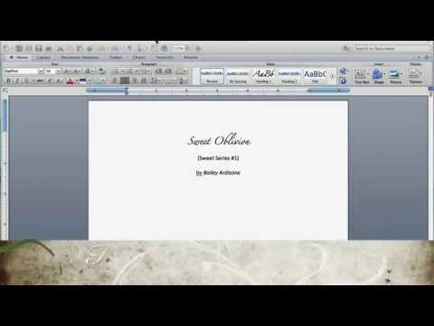 How to format your book for Kindle & Smashwords