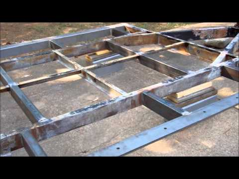 Tiny House Build   Trailer Frame Part two