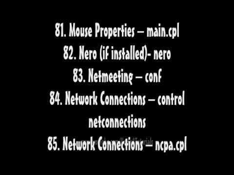 Windows XP Run Command Prompt List (150+ Codes)