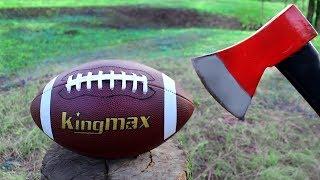 AXE VS AMERICAN FOOTBALL BALL