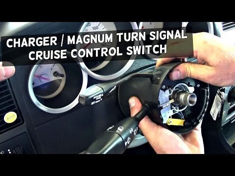 DODGE CHARGER TURN SIGNAL SWITCH REPLACEMENT REMOVAL DODGE MAGNUM
