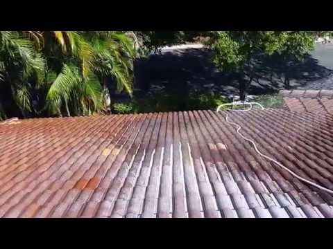 No Pressure Chemical Tile Roof Cleaning Palm Beach Gardens 561-781-4297