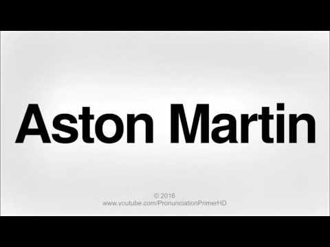 How To Pronounce Aston Martin | Pronunciation Primer HD