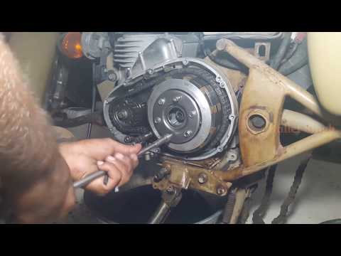 how to change clutch plates motorcycle - royal enfield classic 500 - bullet singh boisar