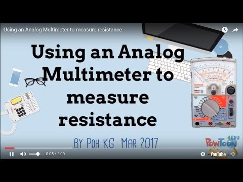 Using an Analog Multimeter  to measure resistance