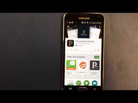 How to add the PowerSchool app to your android phone