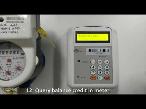 How to operate the Customer Interface Unit of LAISON Split STS prepaid water meters