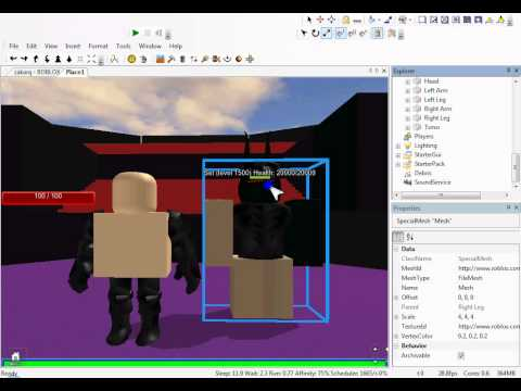 How to create a roblox rpg giant with mesh limbs