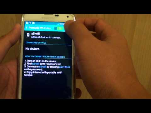 Samsung Galaxy S5: How to Change Tetethering and Wi-Fi Hotspot Password