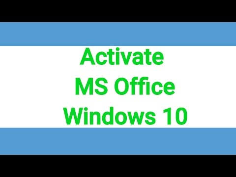 How to activate MS Office 2016 & Windows 10 [Working]
