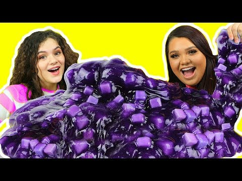 DIY GIANT JELLY CUBE SLIME! How To Make Sponge Slime
