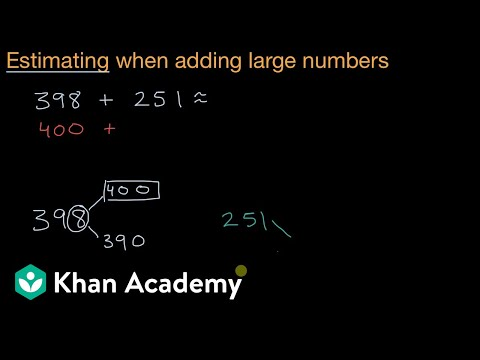 Estimating adding large numbers by rounding