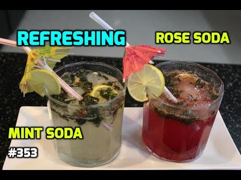 How to Make : Fizzy Rose Soda || Mint Soda Drink || Summer Drink || Indian Soft Drink ||