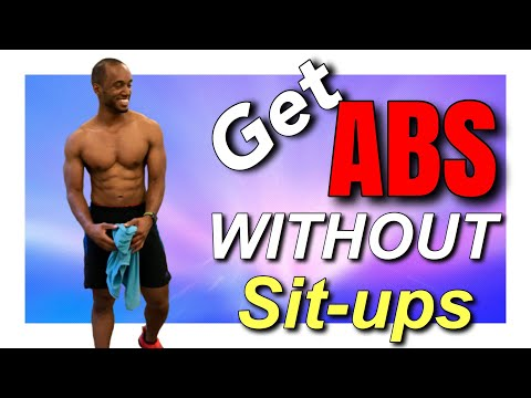 How To Get A Six Pack Without Doing Sit-Ups Fast! | Top 4 Flat Tummy Exercises