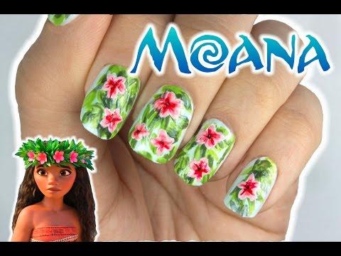 MOANA Inspired Nails Art Design!   Viki Nailbeauty