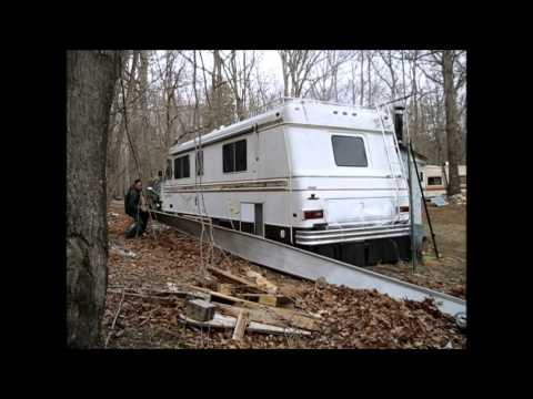 Putting Up RV Skirting And A Huge Addition To The Off Grid Project