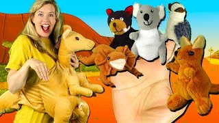 Australian Animals Finger Family Song | Finger Family Nursery Rhymes