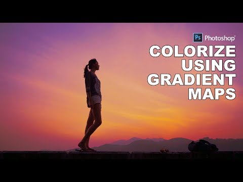 Photoshop Tutorial: Colorize Photos Using Gradient Map - Create Colorful Sky in Photoshop