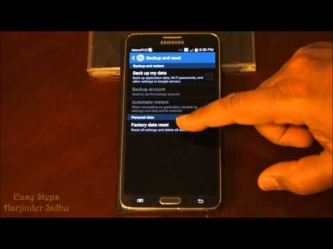 How to Reset Samsung Galaxy Note 3 | Soft Reset | Factory Settings | Original Settings