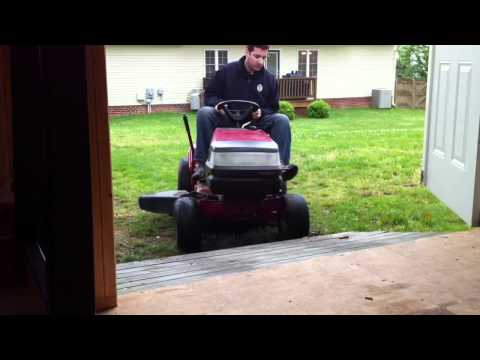 Mower Shed Ramp Fail