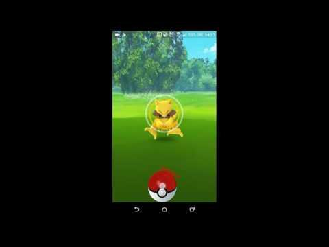 Pokémon GO gameplay catching Abra