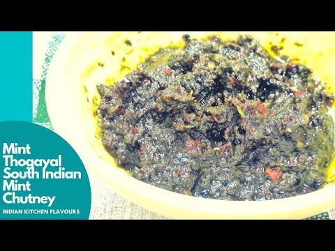 Mint Thogayal | Pudina Chutney | South Indian Style Mint Chutney | South Indian Pudina Chutney