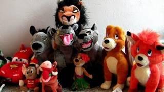 Disneystore Lion King Hyenas plush with Fox and the Hound & Cars2 toys Timon Pumba