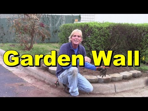 1500 Flowers for $30, Super Flower Bed with Stone Wall, How to Build