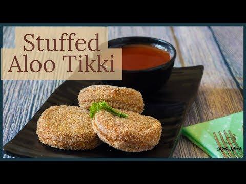 Stuffed Aloo Tikki-How to make potato patties-crispy Aloo Tikki-Kalimirchbysmita-Ep290