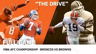 """""""The Drive"""" Broncos vs. Browns 1986 AFC Championship Game   NFL Full Game"""