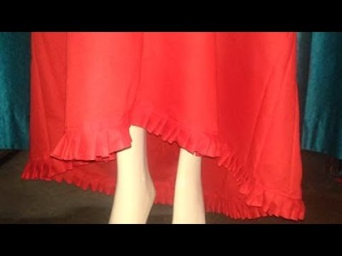 4 Panelled Petticoat With Frill Cutting / stitching