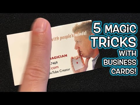 5 AMAZING Magic Tricks YOU CAN DO with BUSINESS CARDS!
