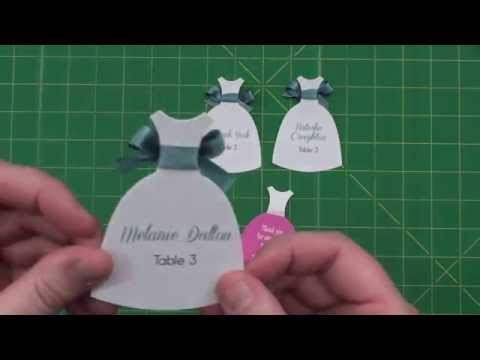 Adorable Dress Shaped Seals or Place Cards