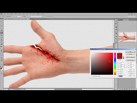 Realistic Hand Wound- PHOTOSHOP TUTORIAL EFFECTS