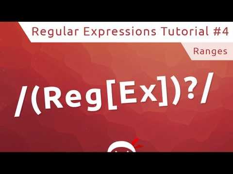 Regular Expressions (RegEx) Tutorial #4 - Ranges