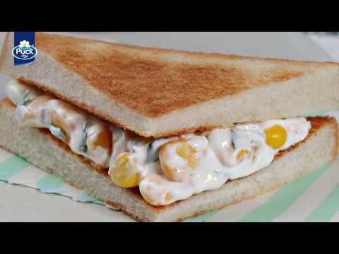 سندويش جبنة الكريم والذرة | Corn Cream Cheese Sandwich