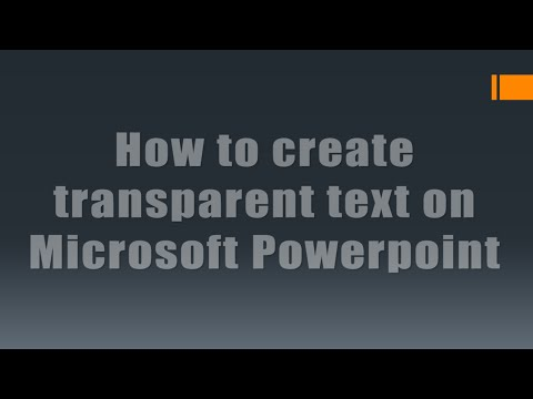 How to create transparent text on PowerPoint