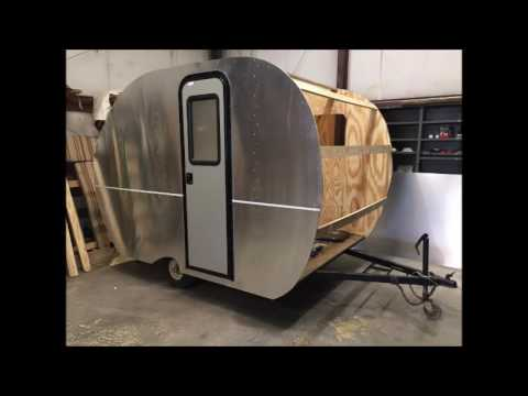 Homemade Hand Made Canned Ham Teardrop Camper