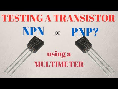 Identifying Transistor as NPN or PNP and Testing [TUTORIAL]