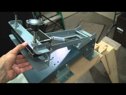 How To Screen Print: 1 Color Bench Press & DIY Stand