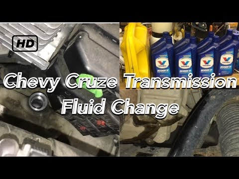 Chevy Cruze transmission fluid change 2008-2016 1.4L Turbo