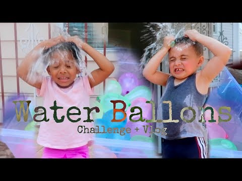 Extreme Water Balloon Challenge!!! + Vloggy!