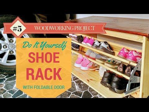DIY Shoe Rack With Foldable Door