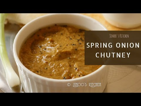 Spring onion chutney recipe | how to make spring onion chutney | south Indian Chutney recipes #18