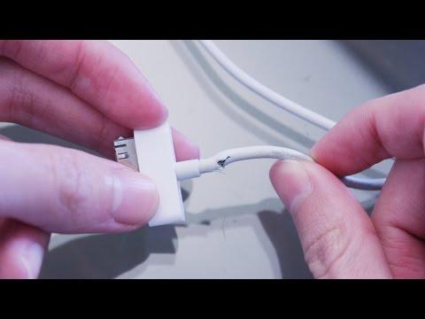Evita que se rompa el cable de tu iPhone, iPod, iPad con este tip