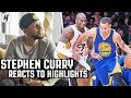 Stephen Curry Reacts To Stephen Curry Highlights
