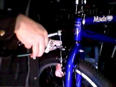 bicycle brake adjustment, mongoose bmx bike.