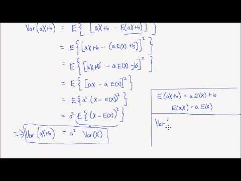 Lesson 14: Properties of Expectation and Variance