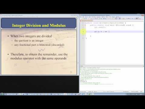 Java Programming Tutorial - Integer Division and the Modulus Operator
